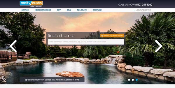example real estate website