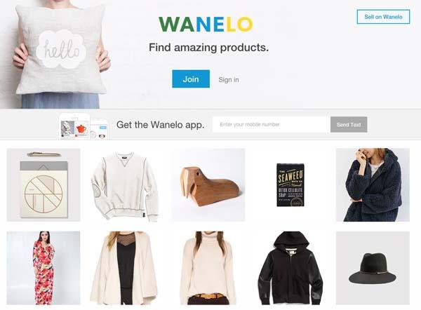 wanelo website