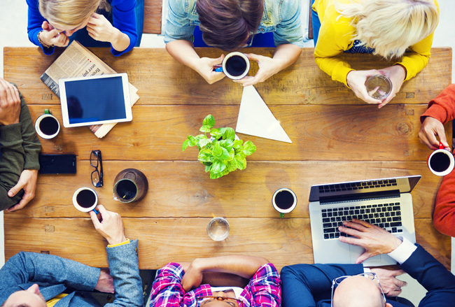 Collaborating and social media planning