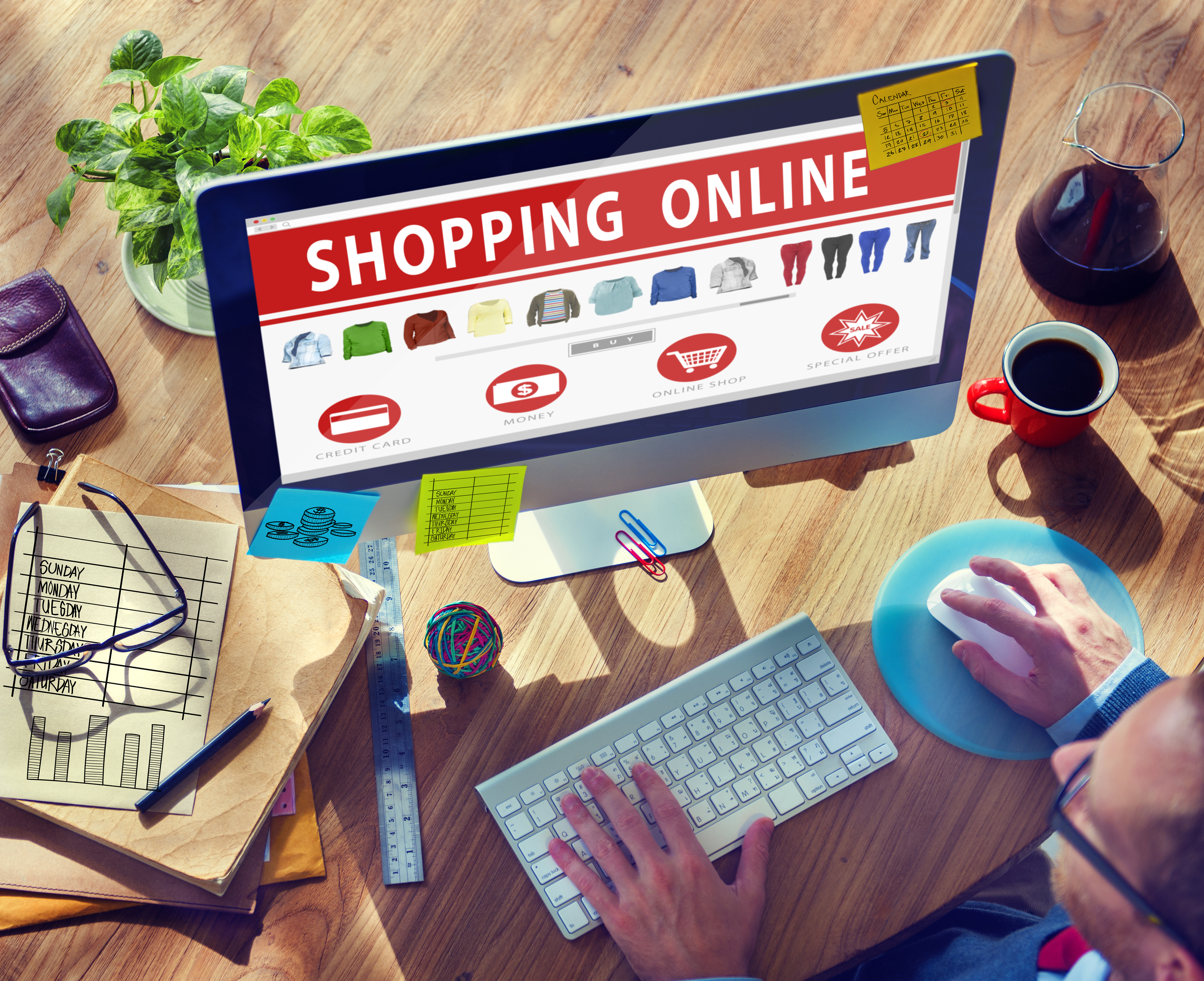 Digital Online Shopping E-Commerce Purchase Buying Browsing Conc