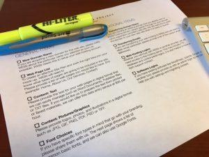 checklist website design