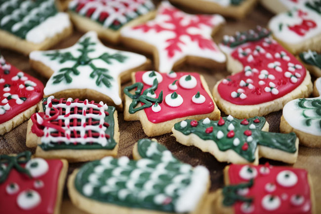 Christmas cookies, holiday themes