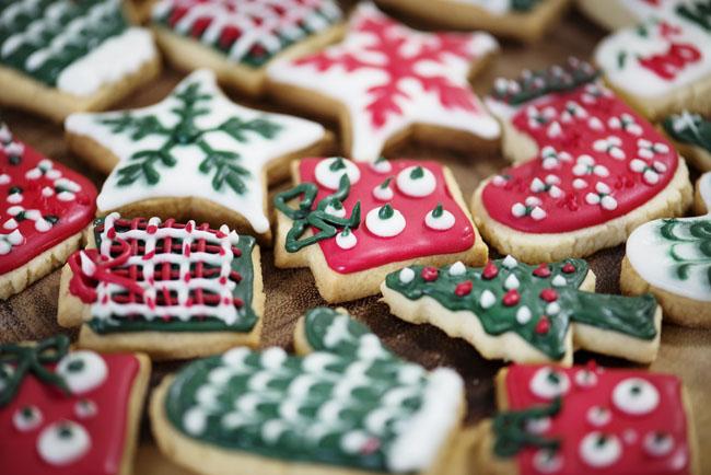 Christmas cookies, holiday themes