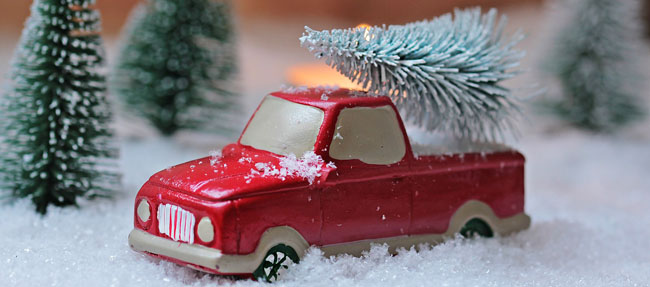 Miniature Truck with Tree
