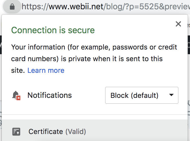 SSL valid