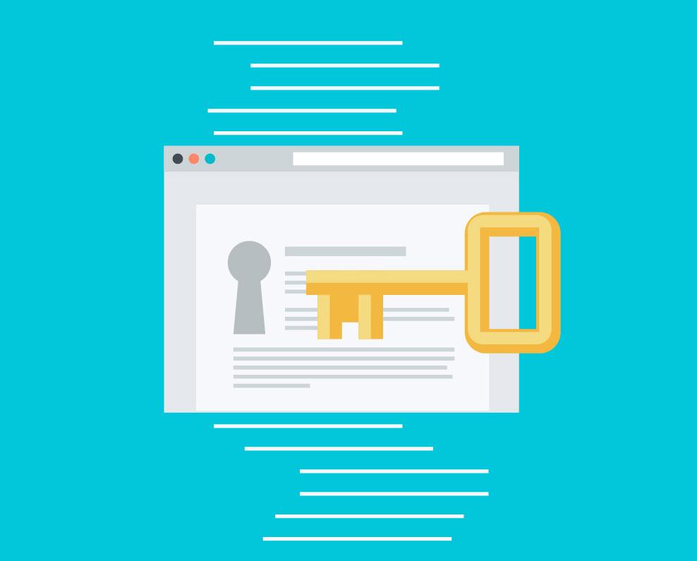 website security concept illustration