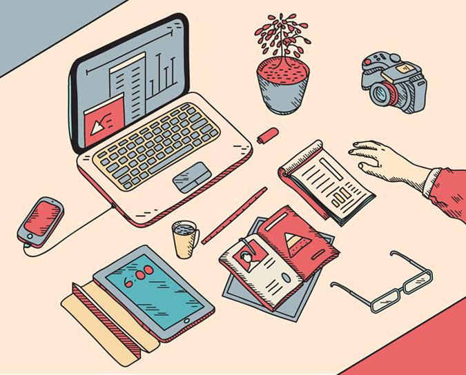 Digital agencies concept