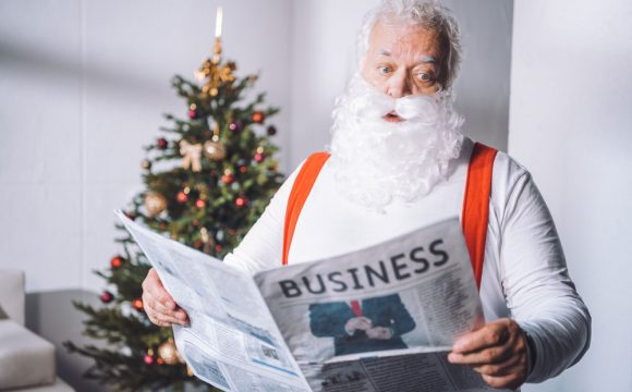 Holiday marketing and website tips with Santa theme