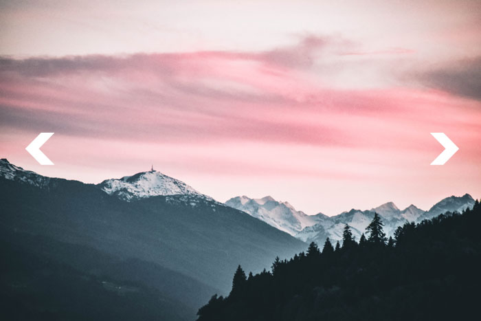 Slider for website with mountain photo
