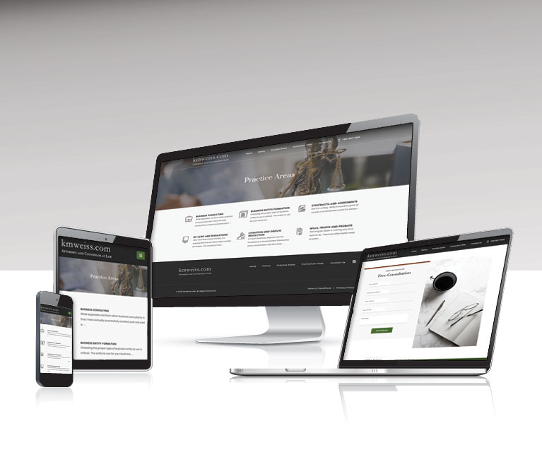 responsive web design for legal office
