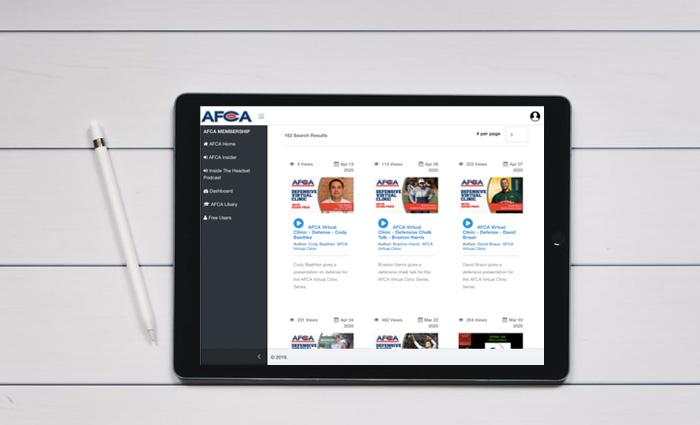 digital web application library for AFCA