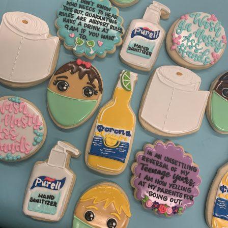 Coronavirus cookies by Hayley Cakes and Cookies