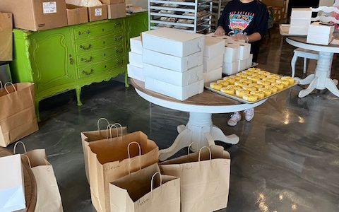 Hayley Cakes and Cookies deliveries prep