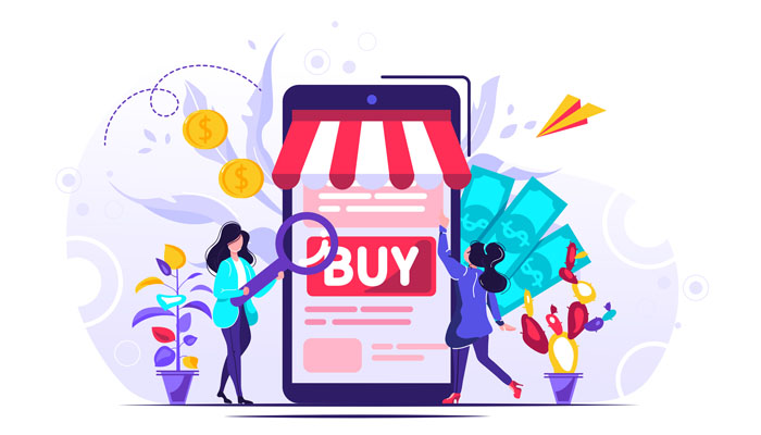 Ecommerce conversion themed concept