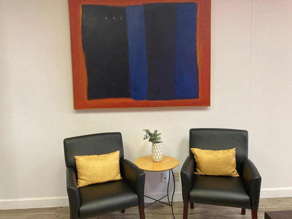 WEBii office space lobby chairs