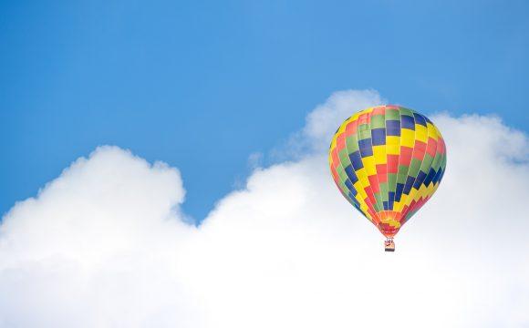 Happy Web Development Hot Air Balloon Concept Image