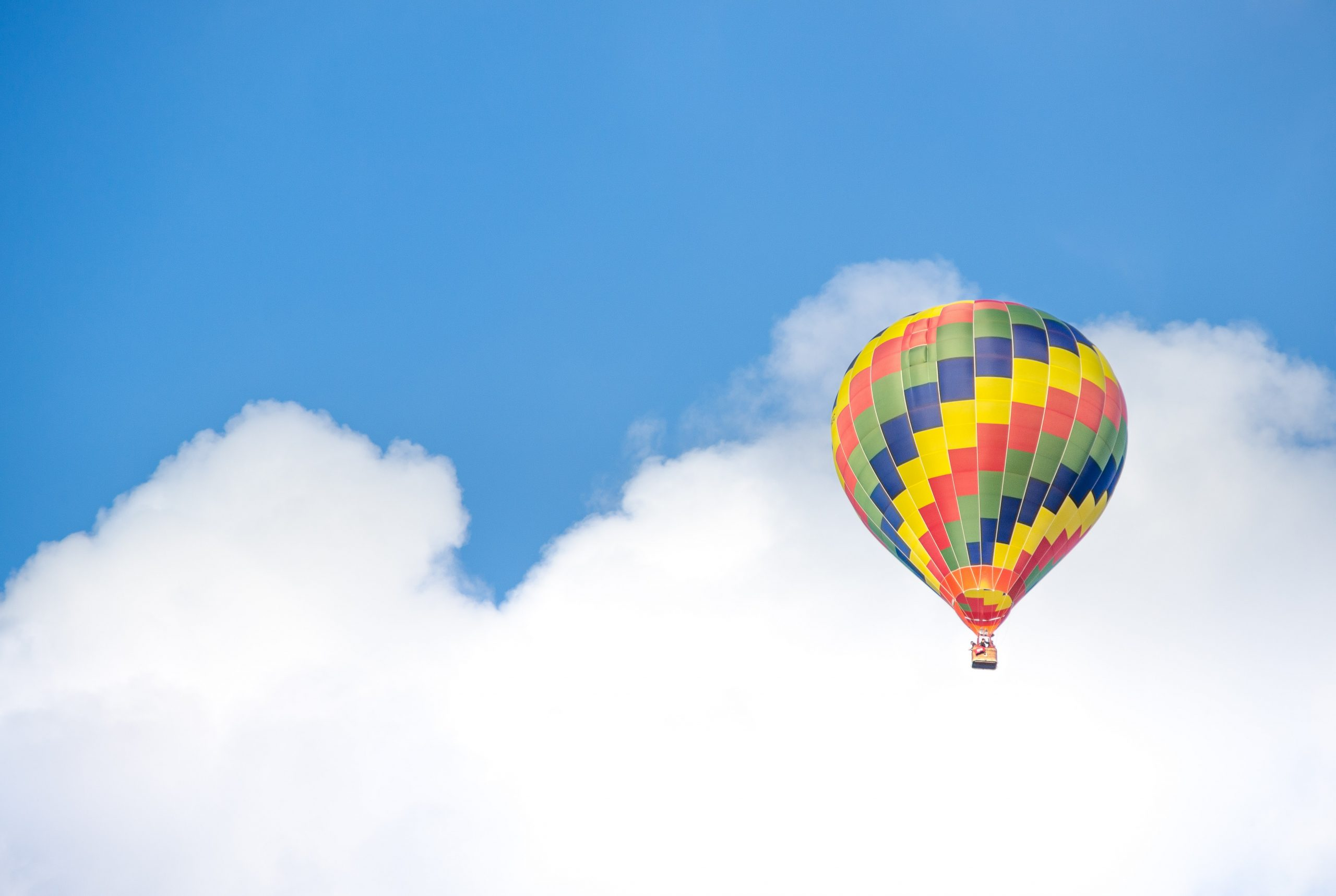 Happy hot air balloon image happiness concept image
