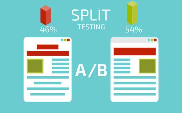 Texas web development split AB testing concept