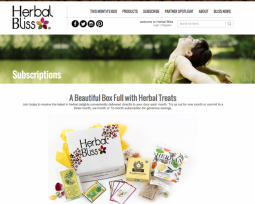 Herbal Bliss subscription commerce