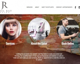 Joel Ray Salon website design