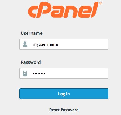 cpanel login picture