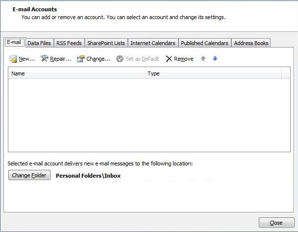 outlook2013-acctlist
