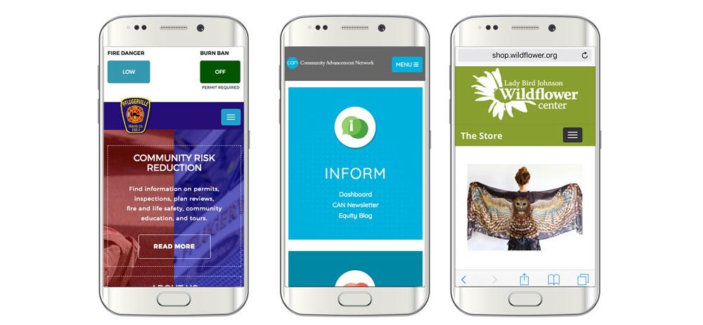 mobile web designs for non profits