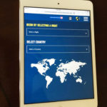 World comparison app on tablet
