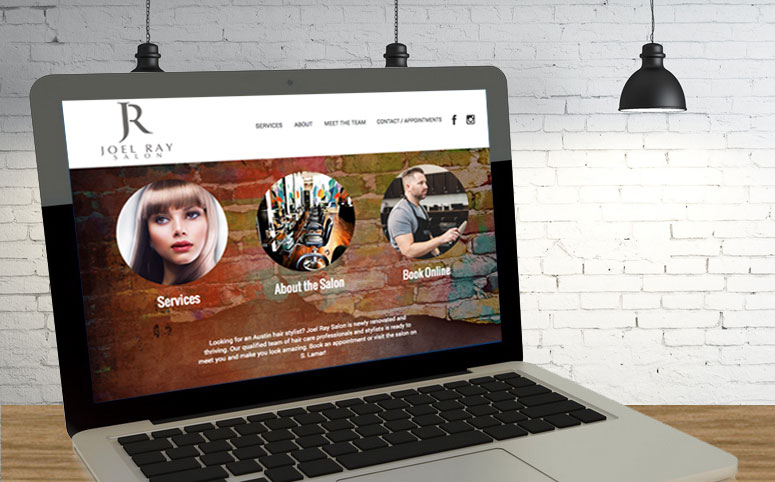 Joel Ray Salon web design project