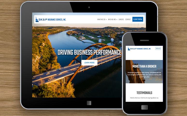 SKP commercial responsive web design