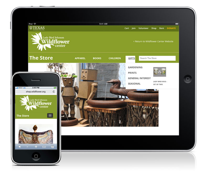Case study Wildflower center ecommerce development