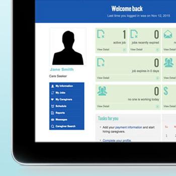 portfolio web application development healthcare