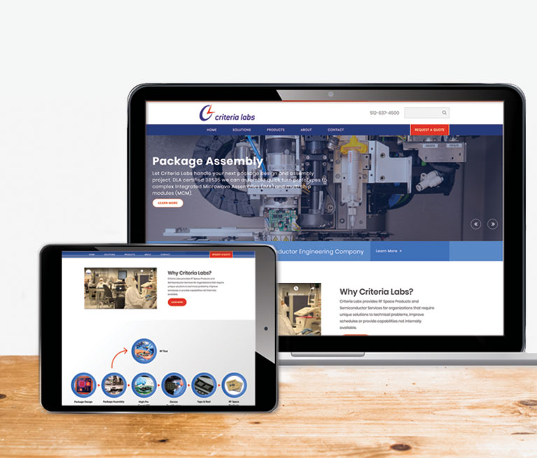Criteria Labs austin web design