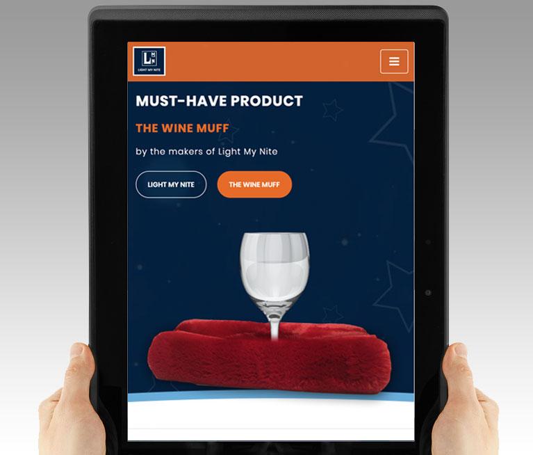 Wine Muff web design mobile responsive
