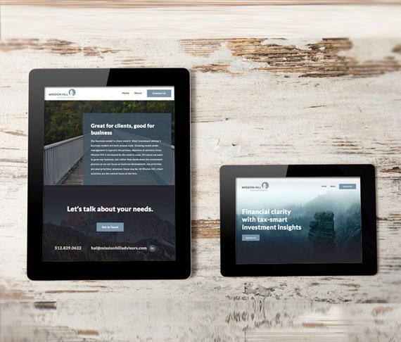 Mission Hill financial advisor web design