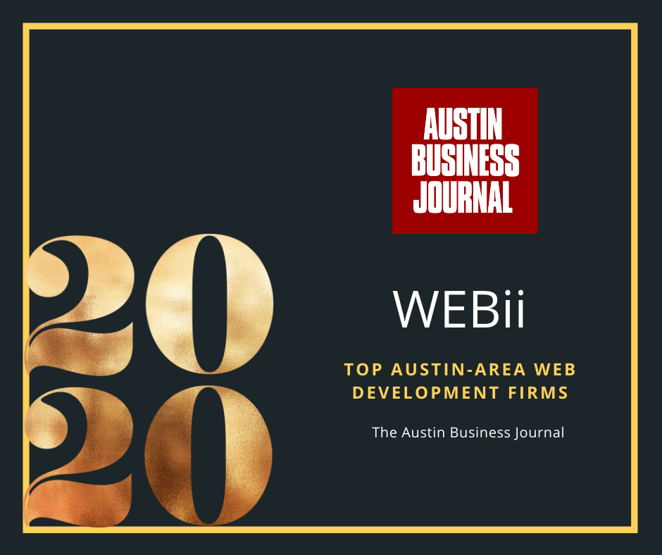 Austin Business Journal Top Web Development Companies WEBii