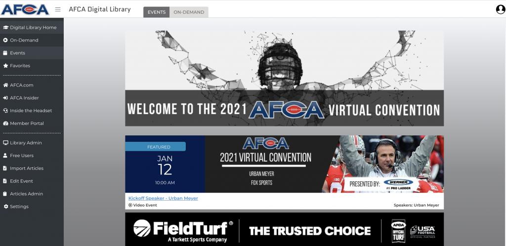 AFCA digital resource library web development