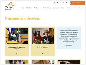 The Arc Web Development for Programs and Services