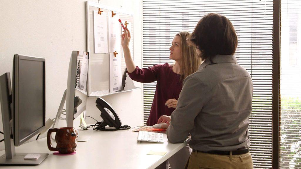 WEBii development agency team whiteboard
